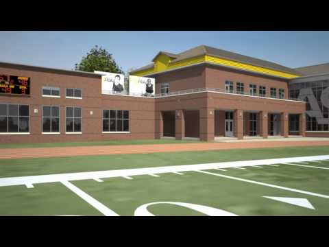 Alabama State University Football Complex concept animation
