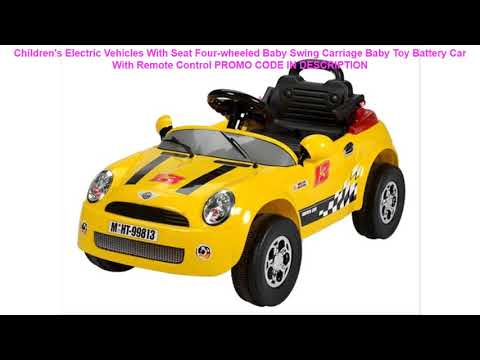 Review Children's Electric Vehicles With Seat Four-wheeled Baby Swing Carriage Baby Toy Battery Car