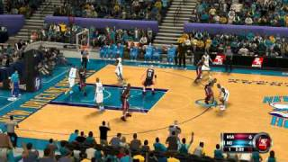 NBA 2K12 Gameplay PC Miami vs Hornets 1st quarter