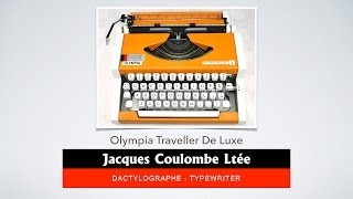 Machine à écrire Olympia Traveller de Luxe - Comment installer le ruban