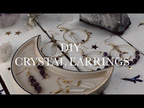 ★ diy crystal earrings ★