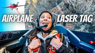 PLAYING LASER TAG IN AIRPLANES (winner gets $2,500)