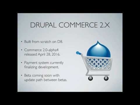 Creating online stores with Commerce 2.x on Drupal 8