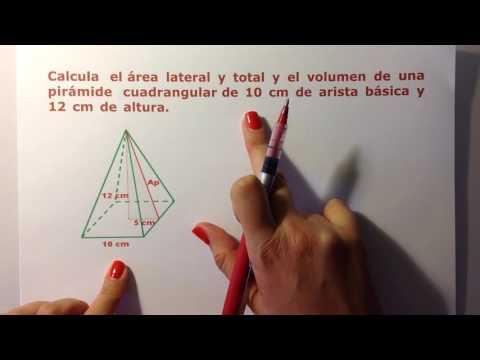 2º ESO: Cálculo de áreas y volúmenes de cuerpos geométricos: Pirámide y Cono