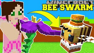 Minecraft: BEE SWARM SIMULATOR! (GROW FLOWERS & GET EPIC BEE PETS!) Modded Mini-Game