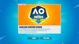 LAST STREAM FOR A WHILE 500000 FORTNITE SUMMER SMASH TOURNAMENT PRACTICE