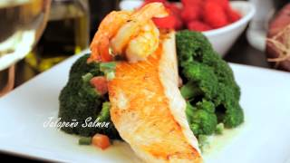 Jalapeño Salmon - Harvest Organic Grille -  Organic, Natural And Healthy Food Restaurant