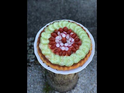 tarte-cake-au-saumon-fumé-&-crudités