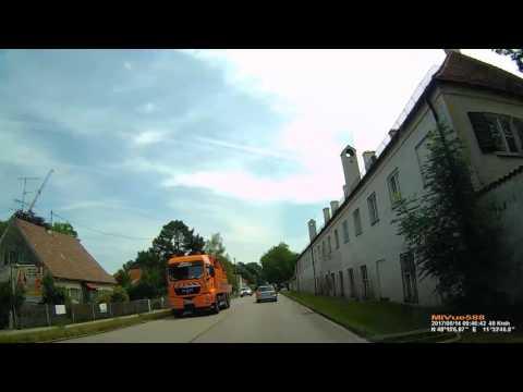 D: Gemeinde Oberschleißheim. Landkreis München. Ortsdurchfahrt auf der B471. Juni 2017
