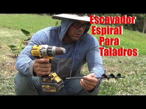 Probando la excavadora espiral para taladro ( Para plantar ) ✅