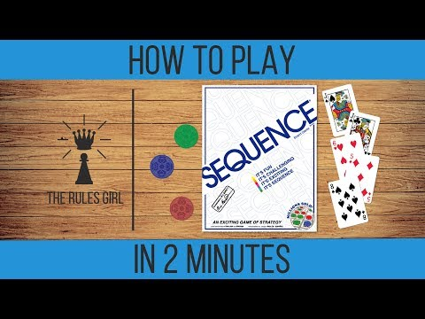 How to Play Sequence in 2 Minutes - The Rules Girl