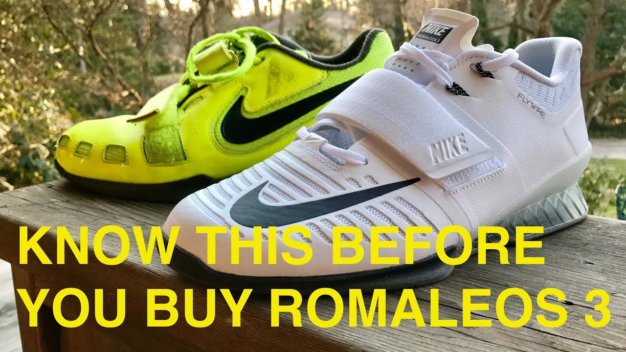 NEW BEST SQUAT SHOE   VLOG ep.1 NIKE ROMALEOS 3 vs ROMALEOS 2 - YouTube 29d8196ae35f
