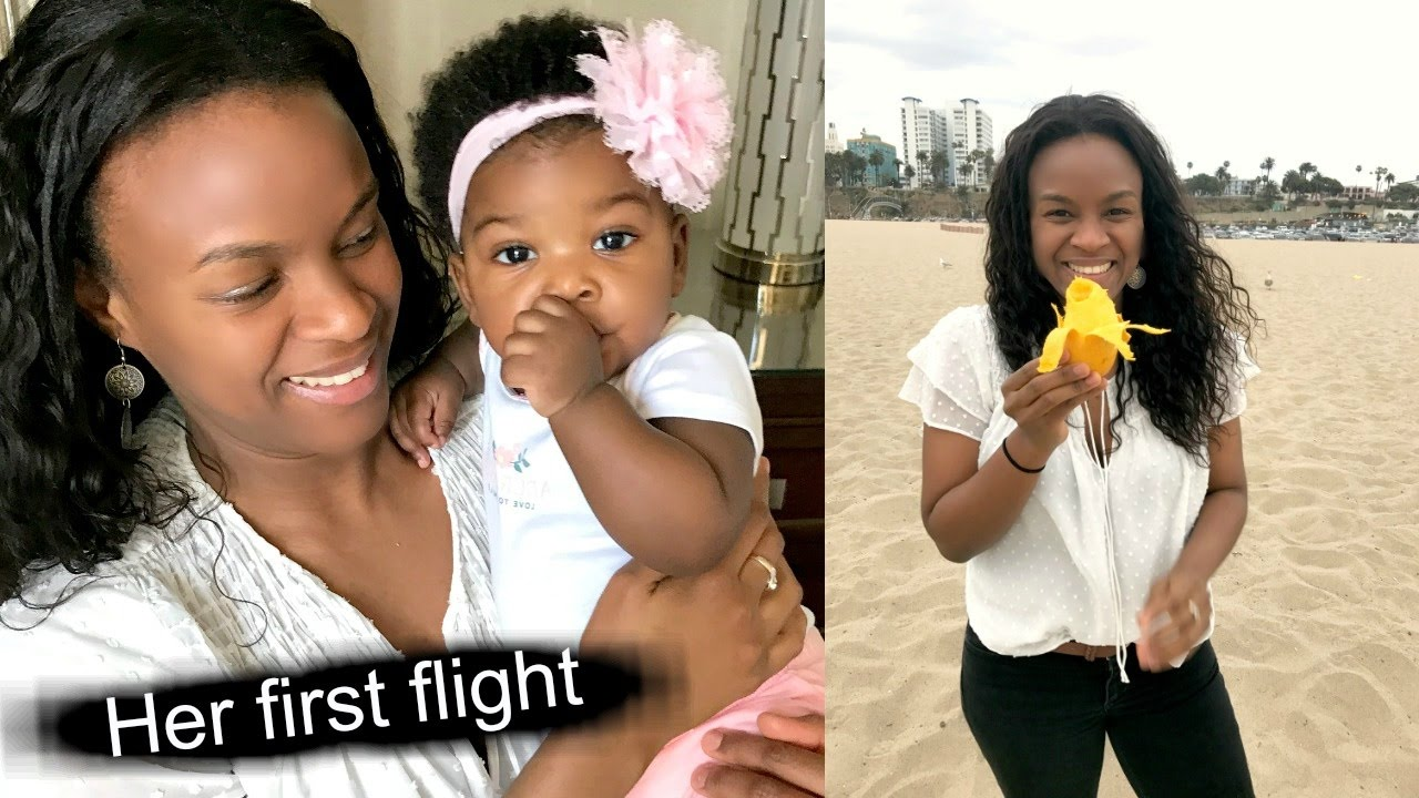 Baby's First Flight + Staying Healthy Vegan while Traveling