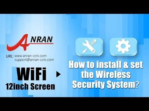 ANRAN 4CH WIFI NVR with 12 Monitor Wireless Security Camera System with 4 Waterproof  outdoor Night