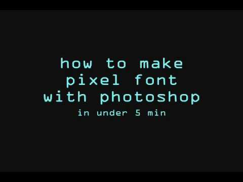 photoshop tutorial: PIXEL FONT in less than 5min