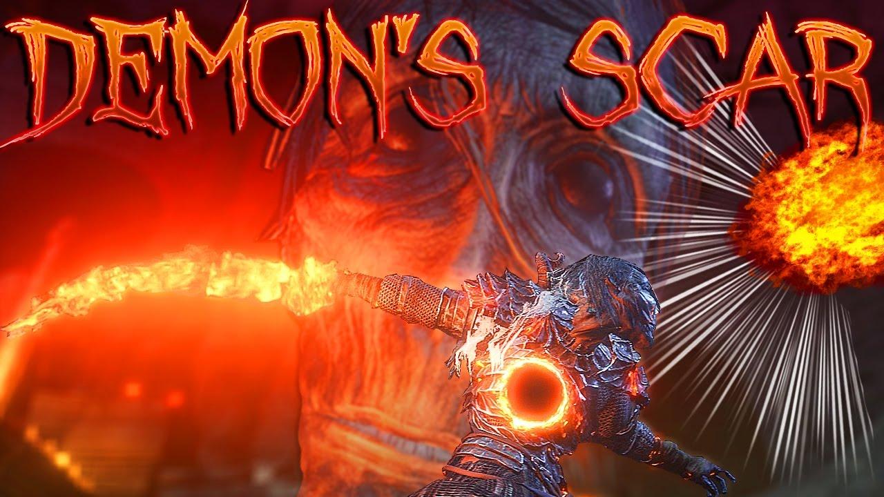 Dark Souls 3 DLC Weapons: Demon's Scar + New FLAME FAN - Curved Sword /  Pyro Hybrid Weapon!