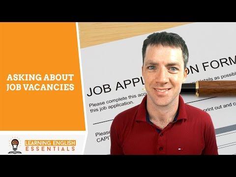 English Conversation Topics - Asking About Job Vacancies