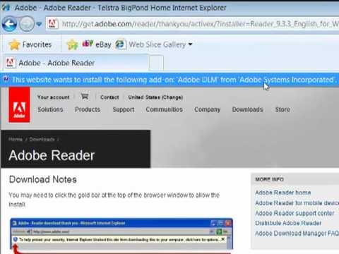 Updating You Version Of Adobe Reader