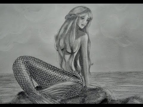 COMO DIBUJAR UNA SIRENA tutorial  YouTube