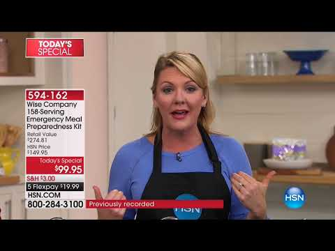 HSN | Preparedness Event featuring Wise Foods 02.02.2018 - 06 AM
