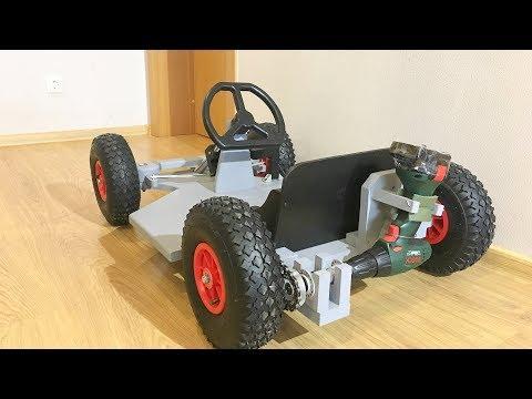 DIY Drill powered Go Kart
