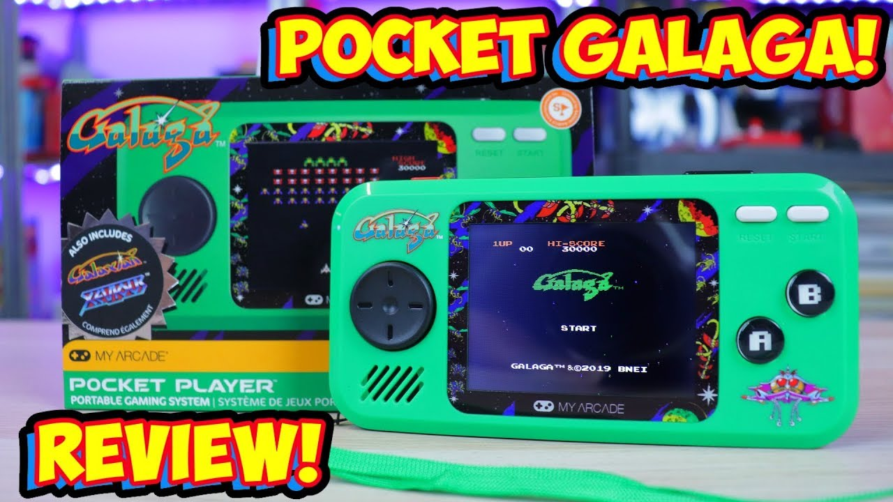 My Arcade Pocket Player Galaga Galaxian Xevious Review Cheap Handheld Youtube