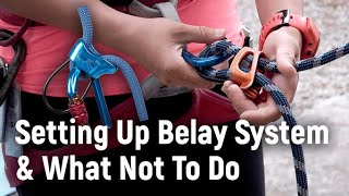 Setup Belay System and What Not To Do - MOA Sport Climbing Level 1 Tutorial | MOA Academy