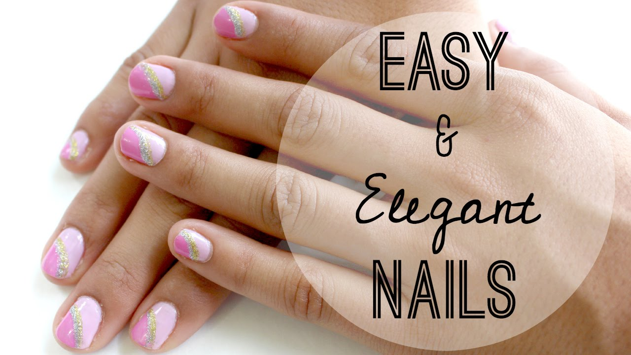 Easy and Elegant Nails | NataliesOutlet - YouTube