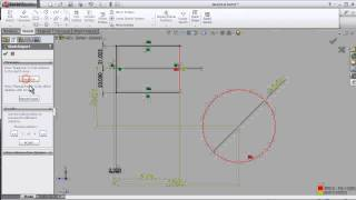 28- SOLIDWORKS SKETCH TUTORIAL: ADD RELATION - OVER DEFINE - FIX IT