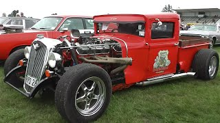 Repeat youtube video Street Machines, Hot Rods & Rat Rods at Muscle Car Madness 2016.