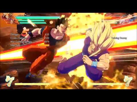 Teen gohan ADVANCED optimal flying kick ninja dash kick move tech stutter step tutorial DBFZ