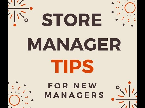 Store Manager Academy Week 1 Lesson 1 New Store Manager Tips