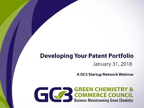 GC3 Startup Network Webinar Series: Developing Your Patent P