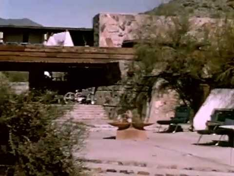 Frank Lloyd Wright's Arizona House and Studio : Taliesin-West in 1950 - CharlieDeanArchives