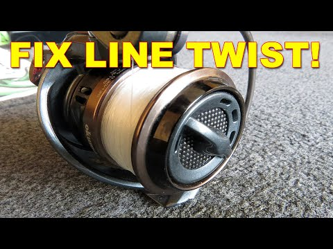 Fix Line Twist In Spinning Reels While Bank Fishing: It Works! | Bass Fishing