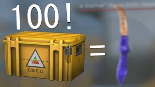 i opened 100 csgo prisma cases and this is what i got.