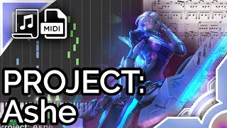 Project: Ashe login theme - League of Legends (Synthesia Piano Tutorial)