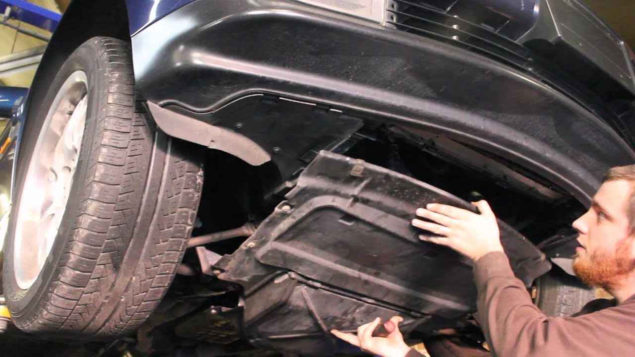 Splash Guard Car >> How to Remove Splash Shield BMW 7 Series - YouTube