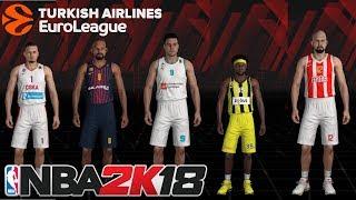 SECRET EUROLEAGUE MODE IN NBA 2K18 !!! NO MODS NO PATCHES !!!