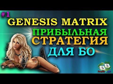 ПРИБЫЛЬНАЯ СТРАТЕГИЯ ДЛЯ БИНАРНЫХ ОПЦИОНОВ GENESIS MATRIX #1 FINMAX/BINOMO/OLYMP TRADE/POCKET OPTION