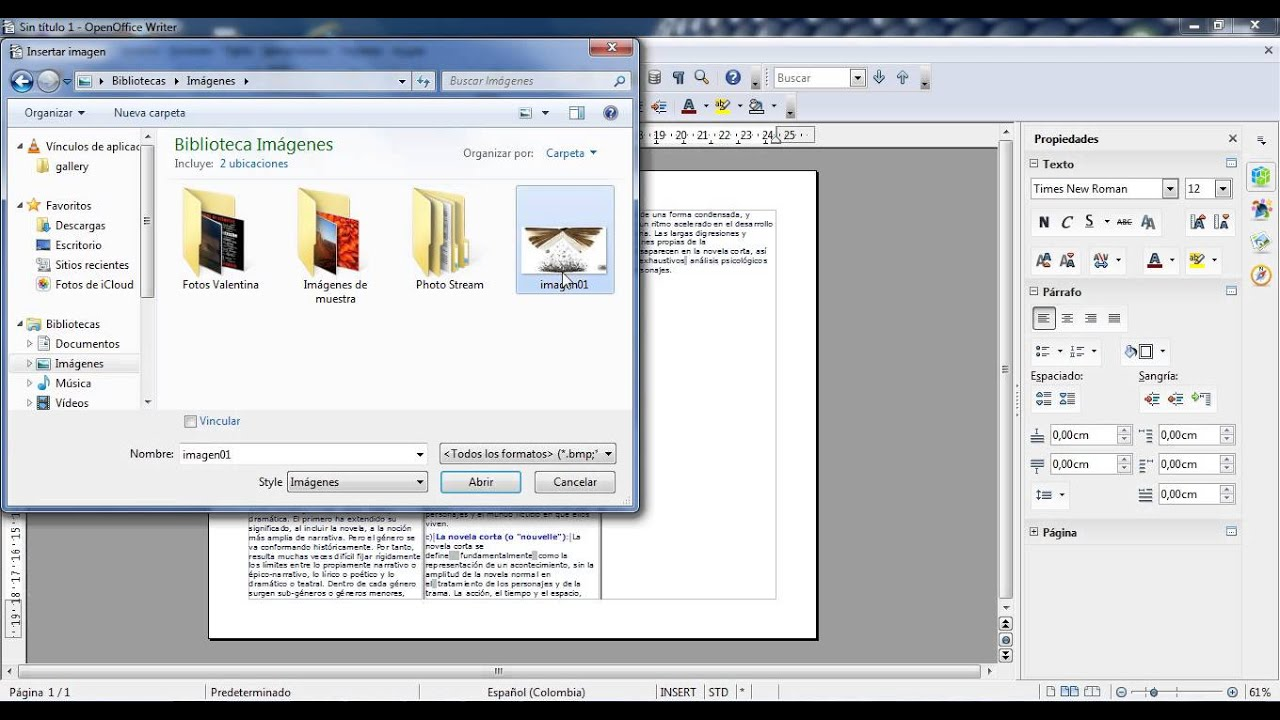 Tutorial Openoffice Hacer Tríptico Youtube