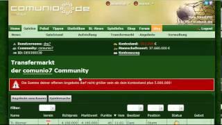 Comunio Tutorial: Erhöhung des Kreditrahmens bei Spielerverkauf