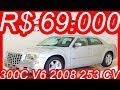 #PASTORE R$ 69.000 #Chrysler #300C 3.5 #V6 2008 Prata AT5 aro 18 #RWD 253 cv 34 kgfm #Chrysler300