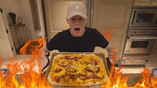 THE MOST INSANE PIZZA EVER... FIRE!!!