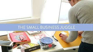 THE SMALL BUSINESS JUGGLE   Taking Batch Instagram Photos, Dog Wrangling and Filling Orders