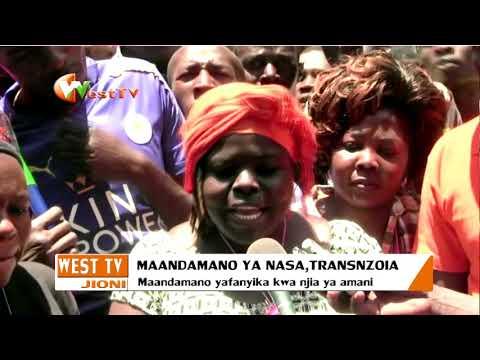 Wafuasi wa mrengo wa nasa waandamana Trans Nzoia