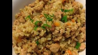 Brown Rice Stir Fry With Ground Turkey.. Healthy Eating With Full Of Flavor!
