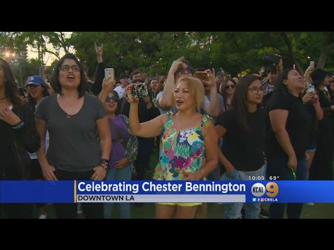 Fans Gather In Downtown L.A. To Celebrate The Life Of Chester Bennington