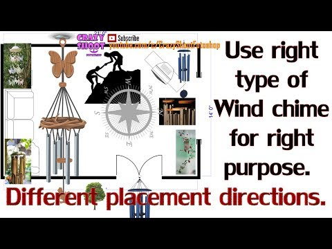 Wind chimes different types, number of rods and placement direction Feng shui use purpose & unboxing