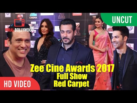 Zee Cine Awards 2017 Full Show Red Carpet | Salman, Kareena, Hrithik, Alia, Anushka And Many...
